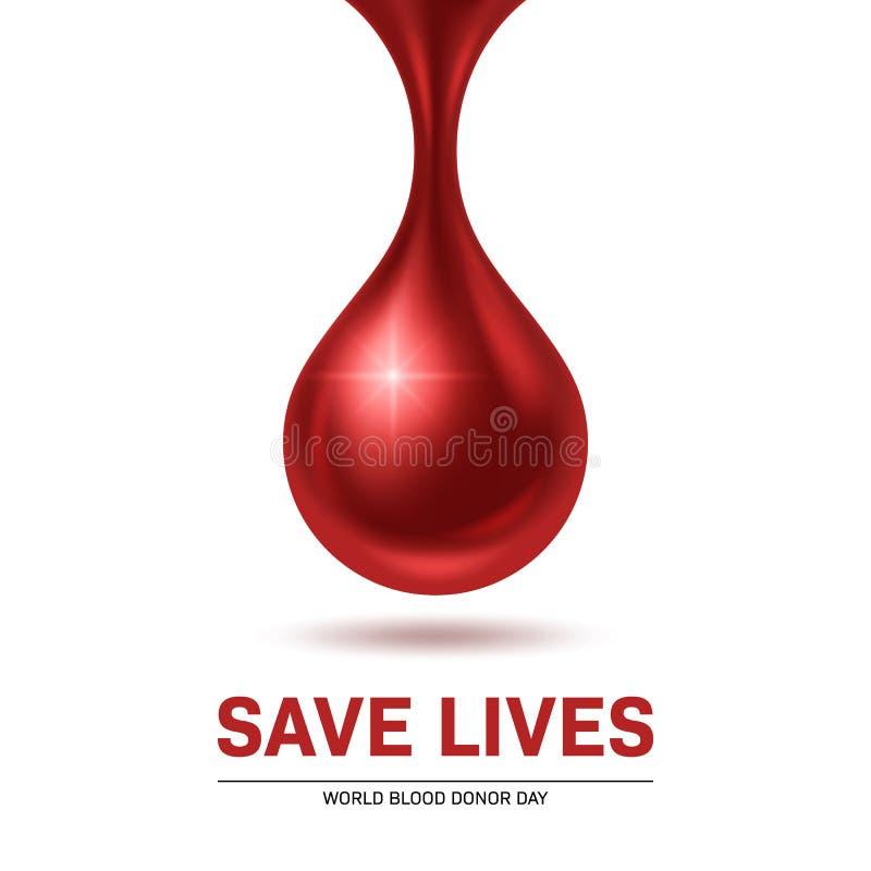 Día del donante de sangre ilustración del vector