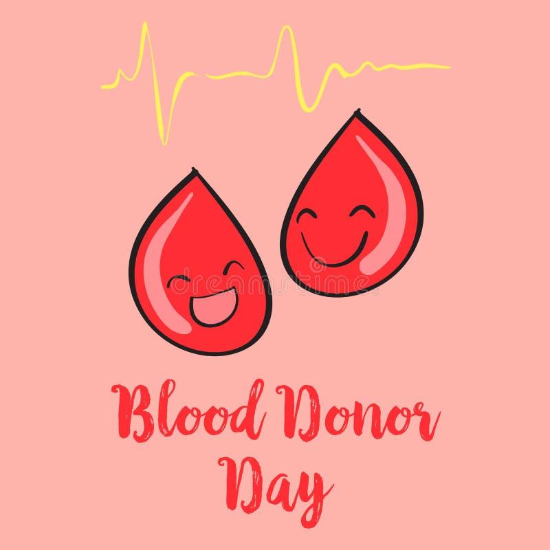 Día del donante de sangre del estilo de la historieta libre illustration
