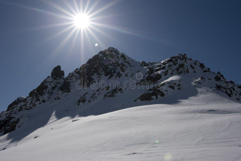 Día del esquí de Alagna imagen de archivo