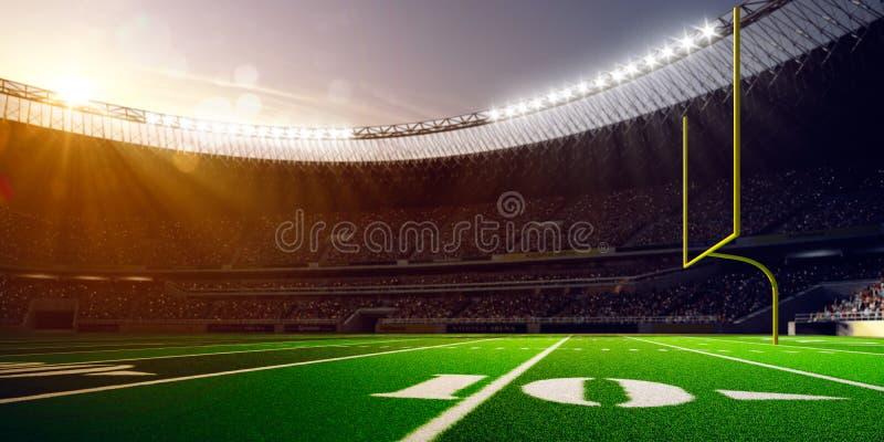 Día del estadio de la arena del fútbol imagenes de archivo