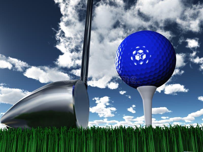 Día del golf ilustración del vector