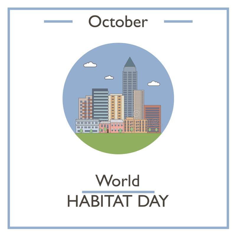 Día del hábitat del mundo, octubre libre illustration