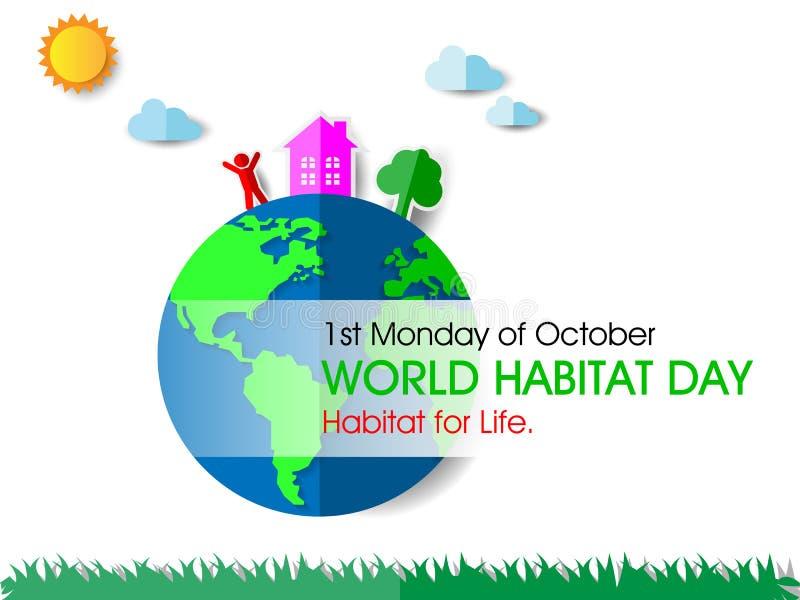 Día del hábitat del mundo libre illustration
