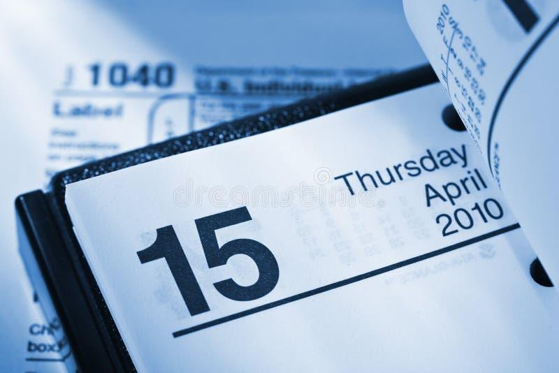 Día del impuesto foto de archivo libre de regalías