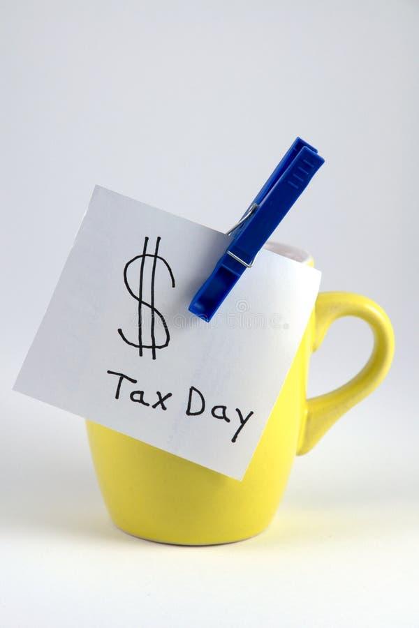 Día del impuesto fotos de archivo