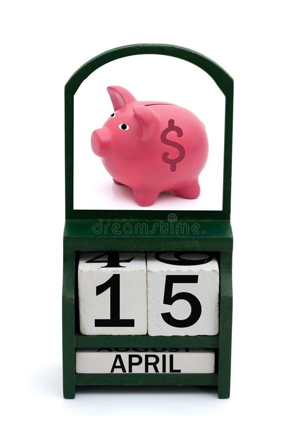 Día del impuesto imagen de archivo