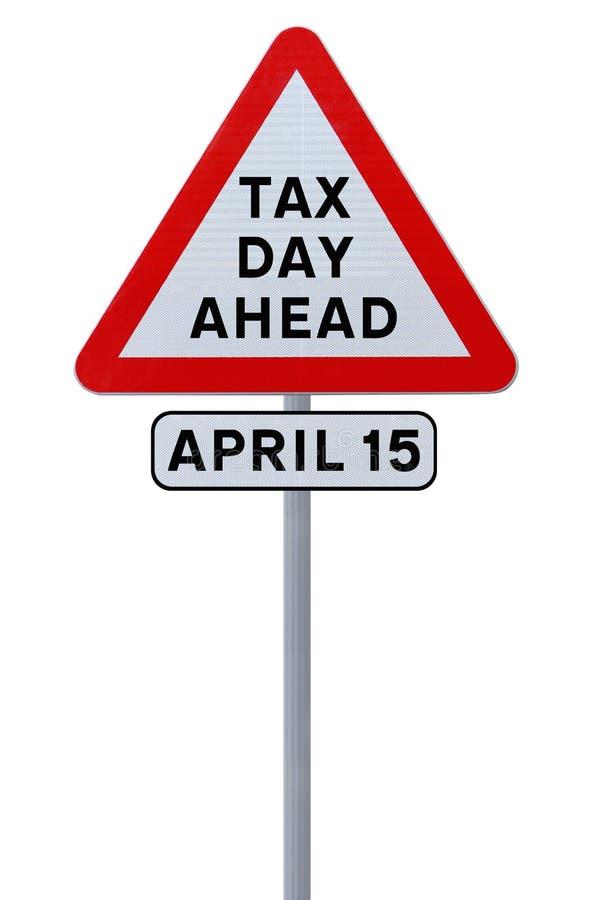 Día del impuesto a continuación fotografía de archivo libre de regalías