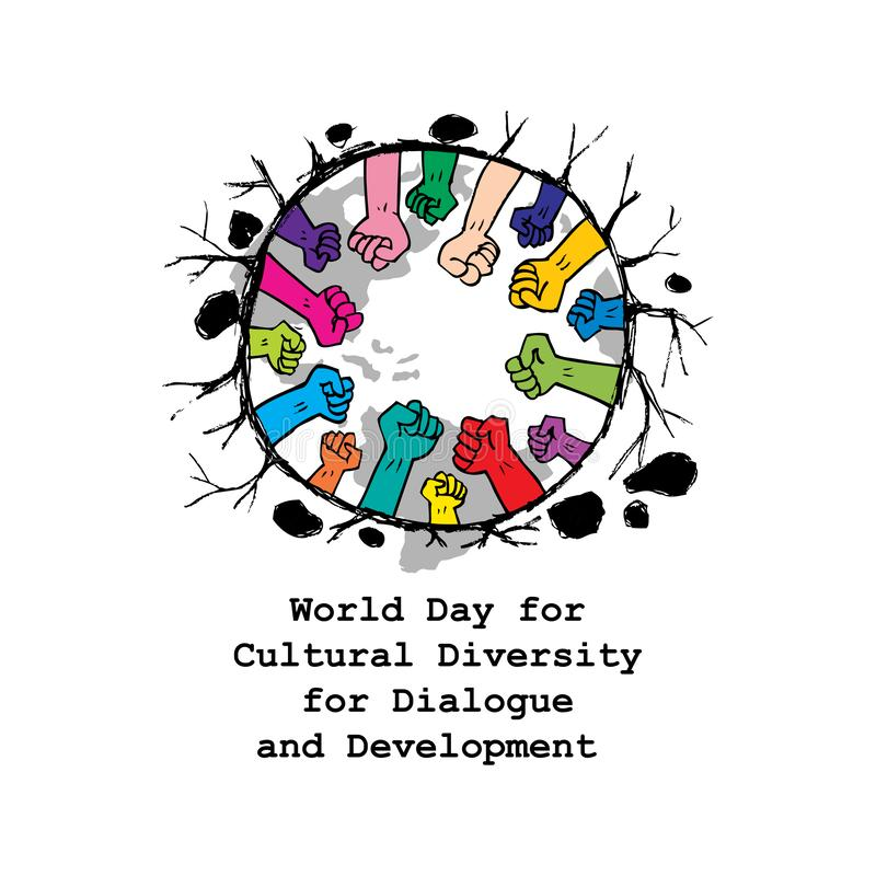 Día del mundo para la diversidad cultural para el diálogo y el desarrollo libre illustration