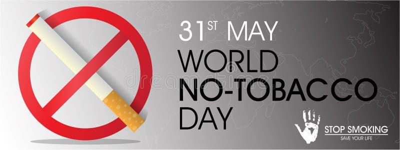 Día del ninguno-tabaco del mundo ilustración del vector