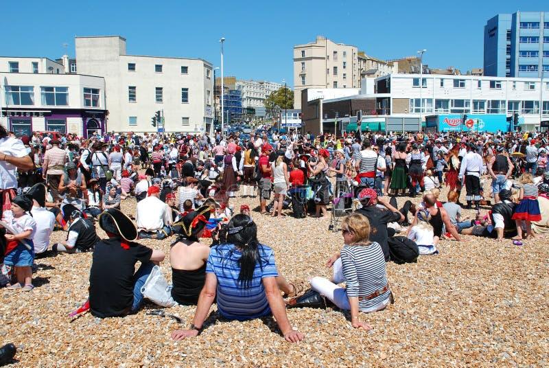 Día del pirata de Hastings imagen de archivo libre de regalías