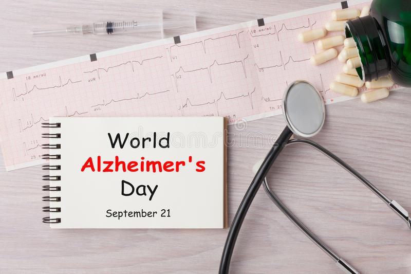 Día del ` s de Alzheimer del mundo imagen de archivo