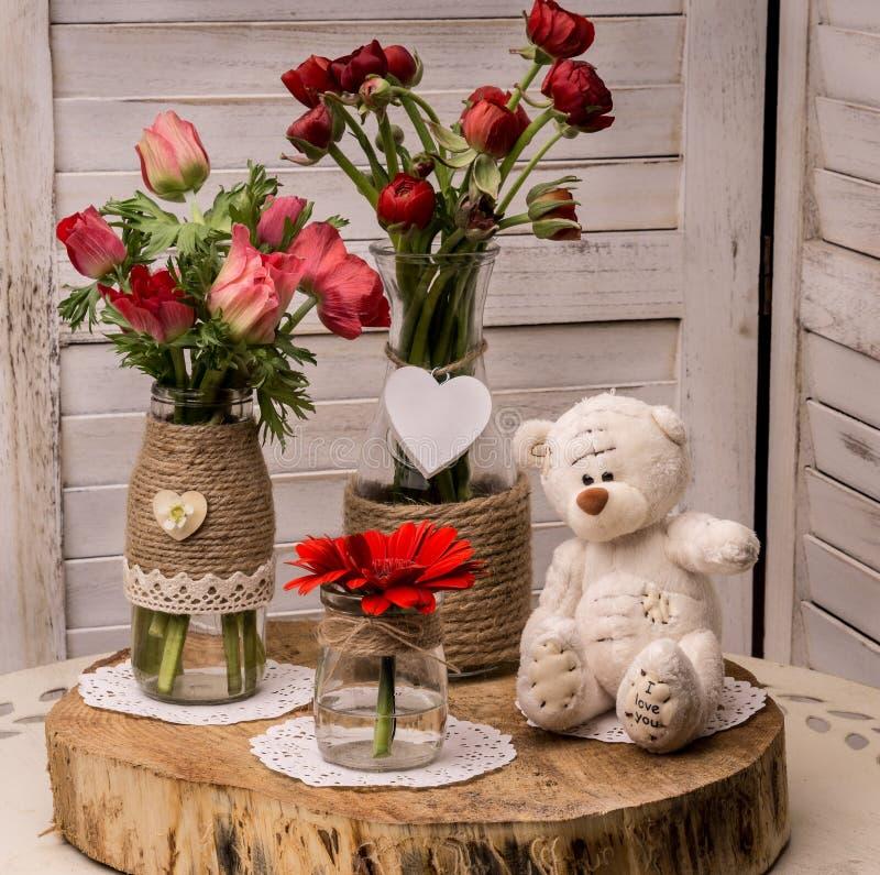 Día del `s de la tarjeta del día de San Valentín imagen de archivo libre de regalías