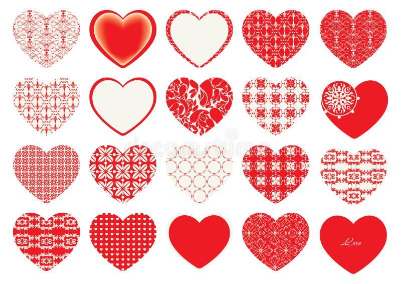 Día del ` s de la tarjeta del día de San Valentín, corazones decorativos imágenes de archivo libres de regalías