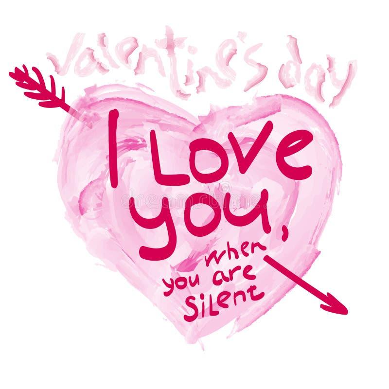 Día del ` s de la tarjeta del día de San Valentín de la impresión libre illustration