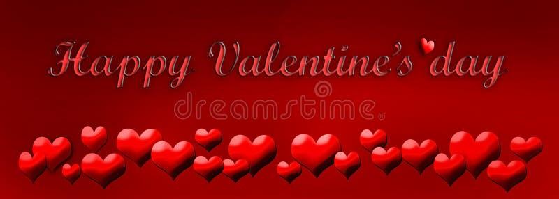 Día del ` s de la tarjeta del día de San Valentín de la tarjeta de felicitación stock de ilustración