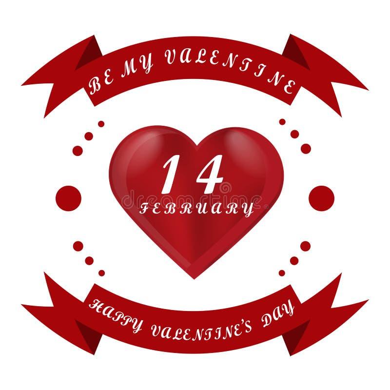 Día del ` s de la tarjeta del día de San Valentín del St del día de fiesta de la celebración stock de ilustración