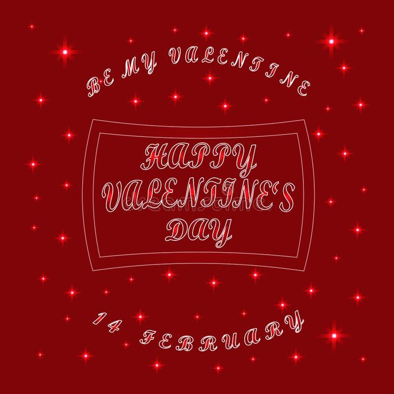Día del ` s de la tarjeta del día de San Valentín del St del día de fiesta de la celebración libre illustration