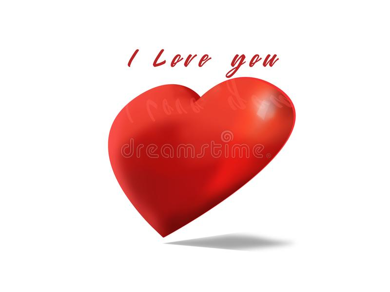 Día del ` s de la tarjeta del día de San Valentín, te amo ejemplo imagenes de archivo