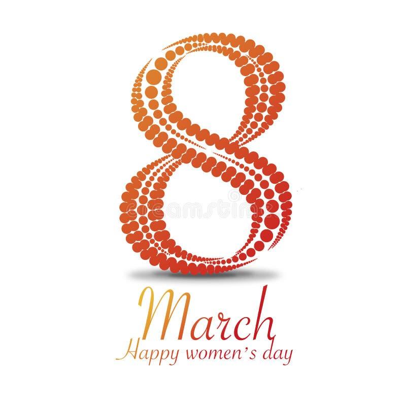 Día del ` s de las mujeres adornado con un modelo de punto fotografía de archivo