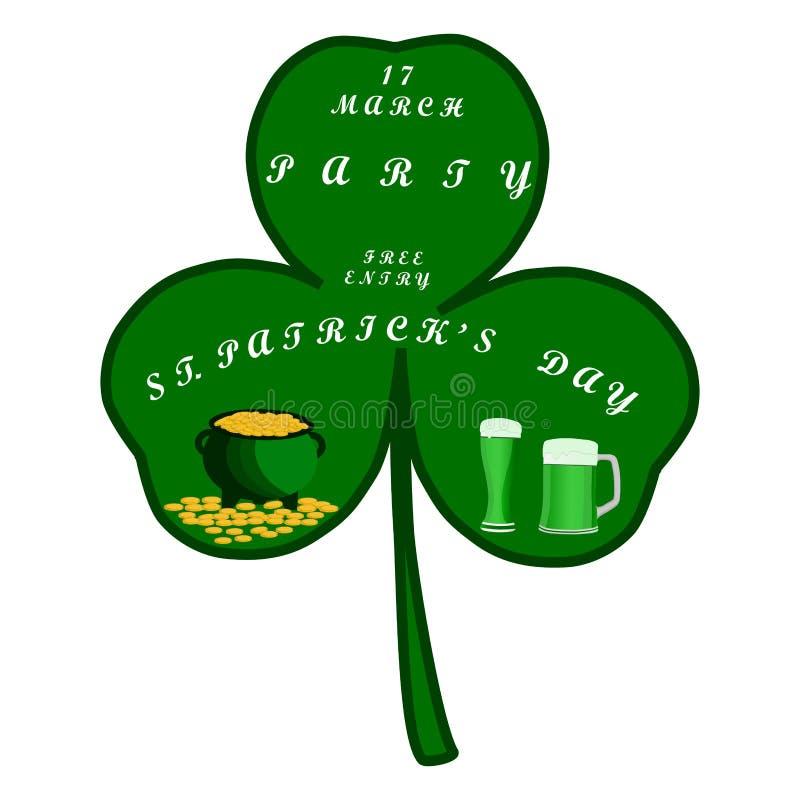 Día del ` s de St Patrick del día de fiesta de la celebración libre illustration