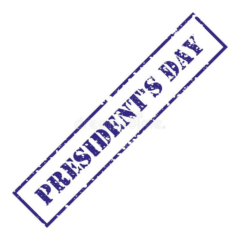 Día del ` s del presidente Sello azul con grunge Ilustración del vector stock de ilustración