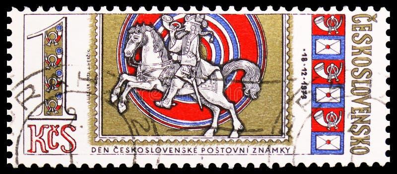 Día del sello, serie de los caballos, circa 1973 fotos de archivo libres de regalías