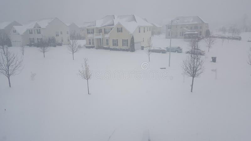 Día del sur 2017 de la nieve del jersey fotografía de archivo