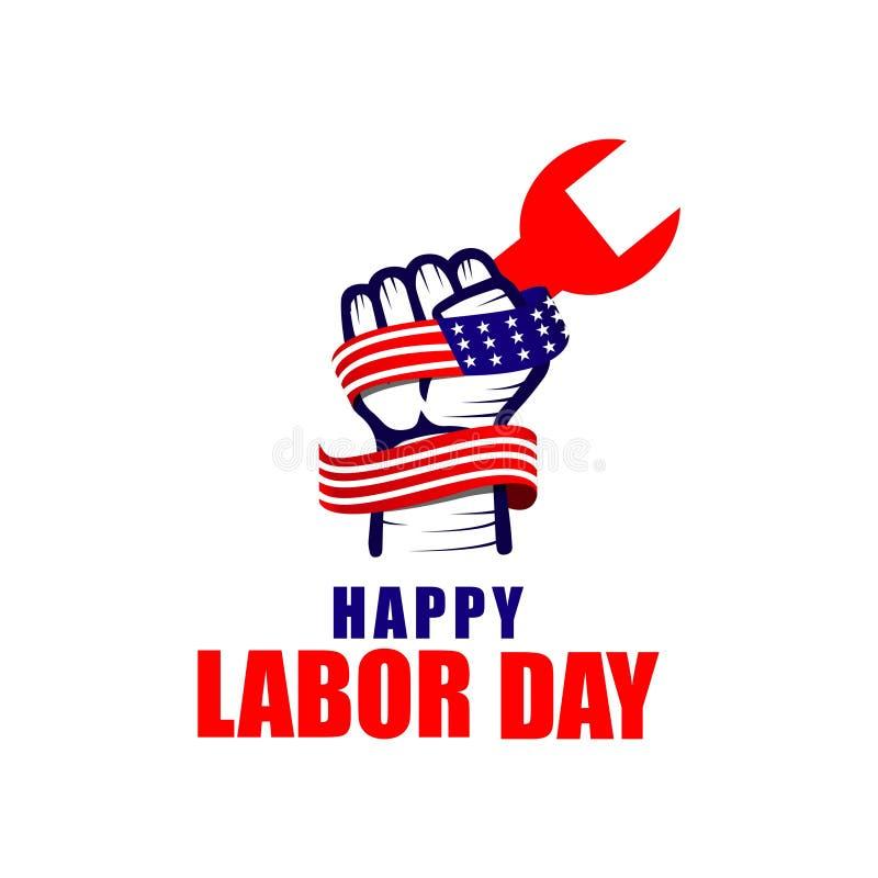 Día del Trabajo feliz Logo Vector Template Design Illustration libre illustration