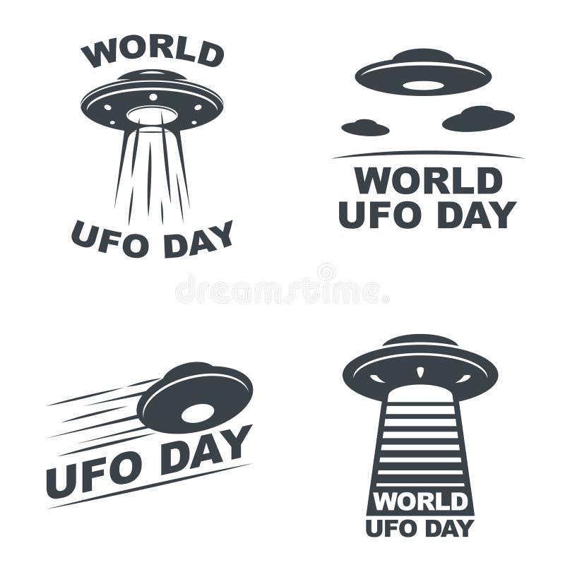 Día del UFO del mundo stock de ilustración