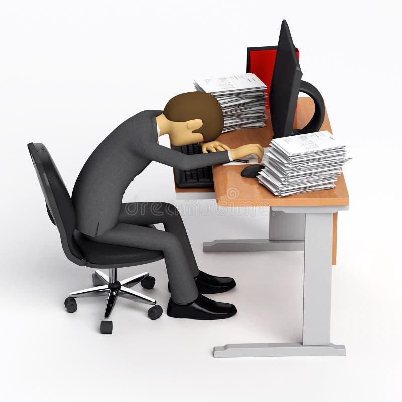 Día duro en el trabajo stock de ilustración