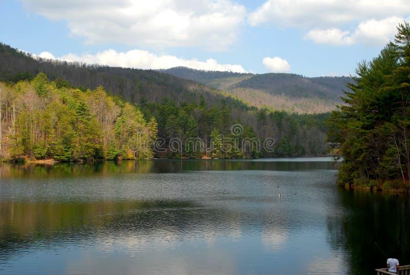 Día en el lago fotografía de archivo