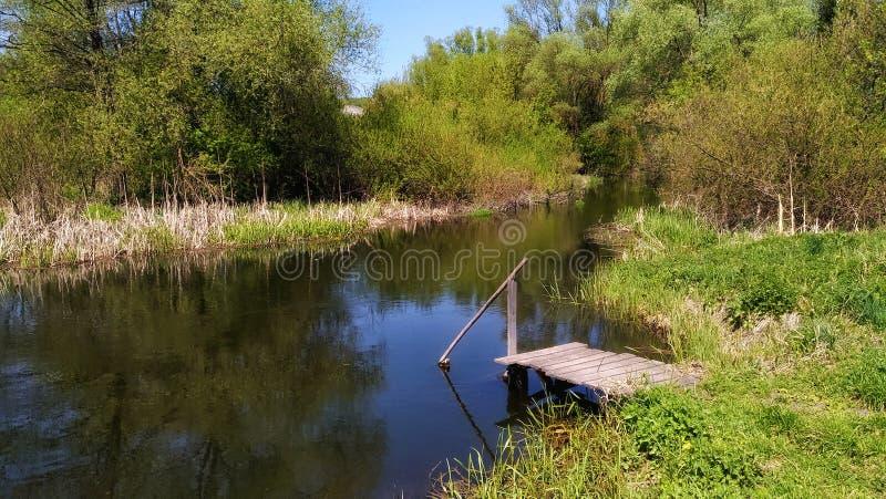 Día en el río fotos de archivo libres de regalías