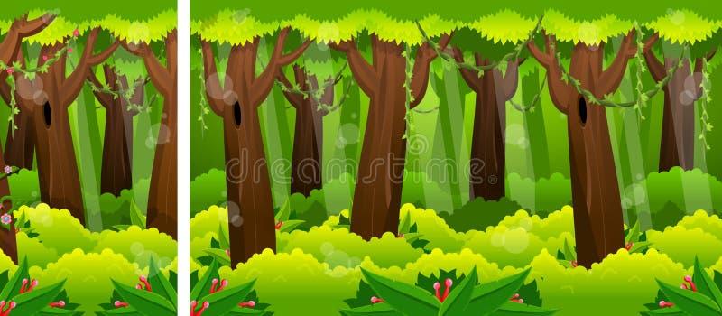 Día en Forest Video Game Background libre illustration