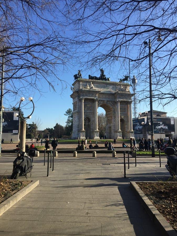 Día en Milán imágenes de archivo libres de regalías