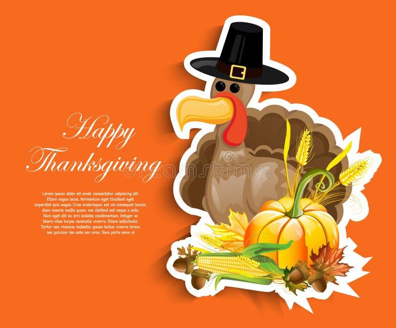 Día feliz de la acción de gracias stock de ilustración