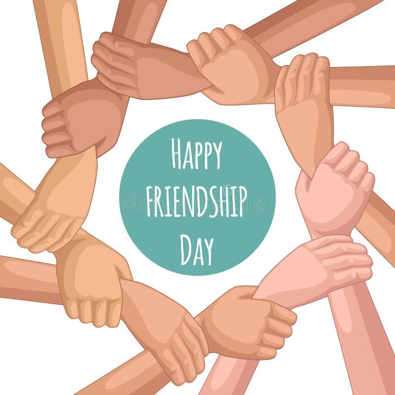 Día feliz de la amistad ilustración del vector