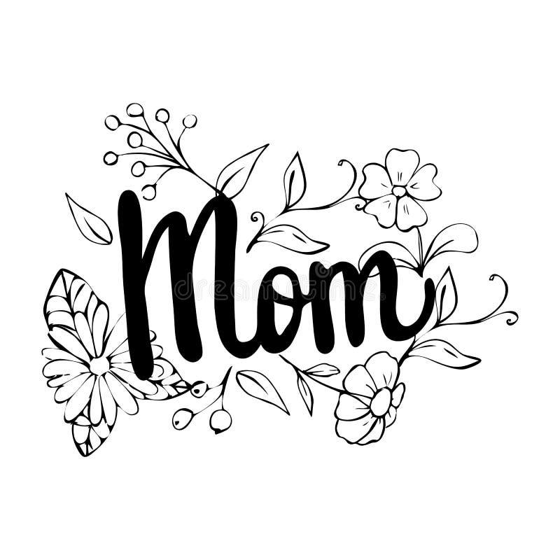 Dia Feliz De La Madre S De Las Frases Exhaustas De La Caligrafia