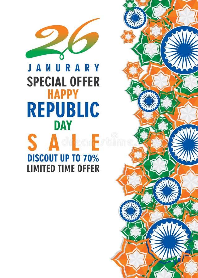 Día feliz de la república de vector del ejemplo de la India libre illustration