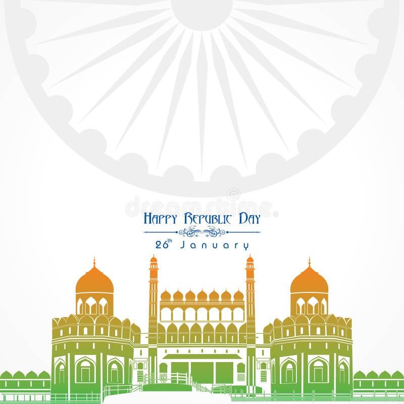 Día feliz de la república de vector del ejemplo de la India, diseño del cartel ilustración del vector
