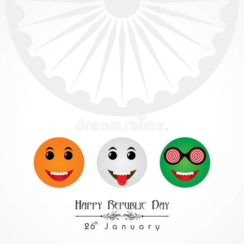Día feliz de la república de vector del ejemplo de la India, diseño del cartel stock de ilustración