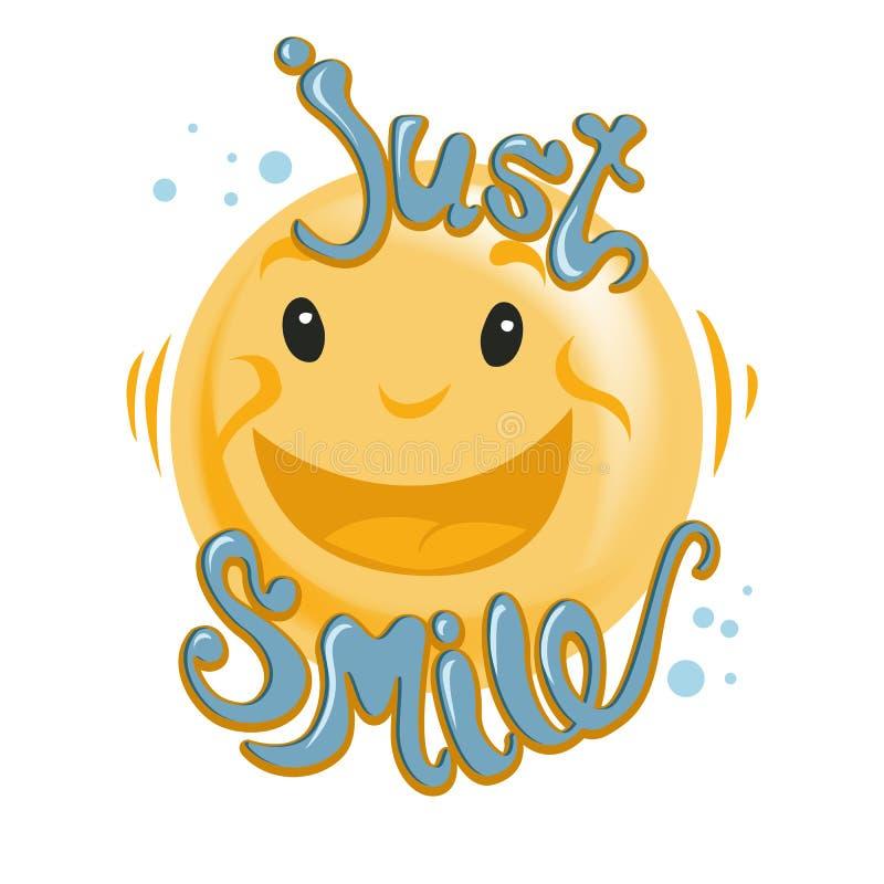 Día feliz de la sonrisa del mundo deletreado Modelo del vector 5 de octubre ilustración del vector