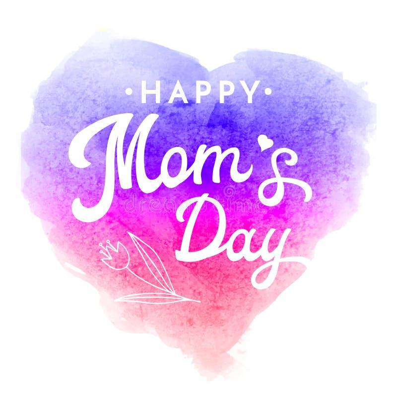 Día feliz de las mamas Tarjeta de felicitación con la flor libre illustration