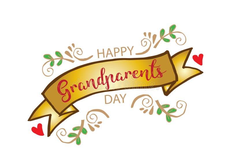Día feliz de los abuelos stock de ilustración