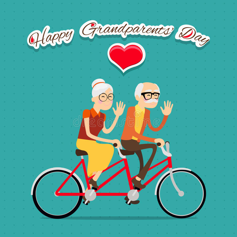 Día feliz de los abuelos ilustración del vector