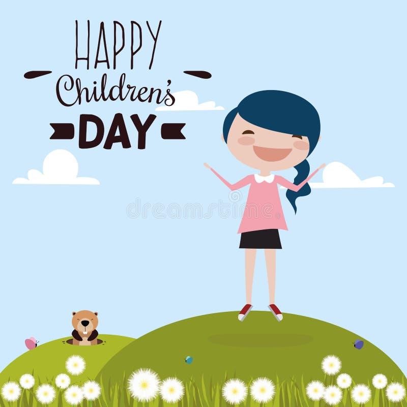Día feliz de los niños libre illustration