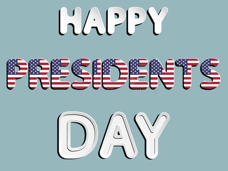 Día feliz de los presidentes stock de ilustración