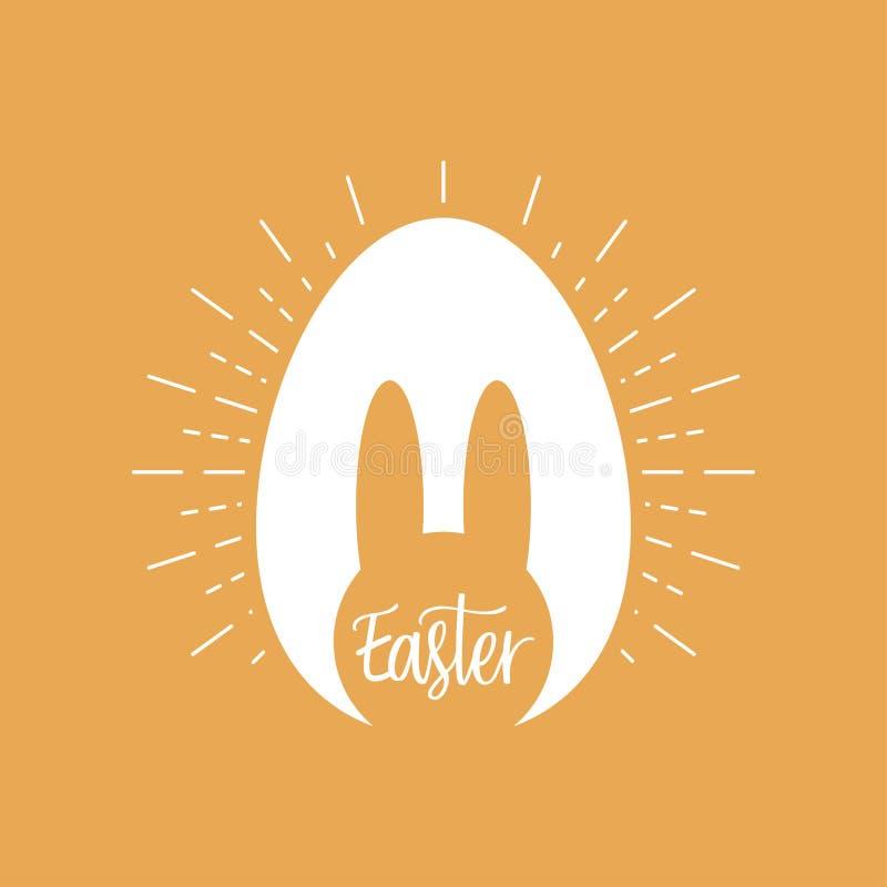 Día feliz de Pascua Conejito pascua Cartel de la celebración - illustartion del vector stock de ilustración