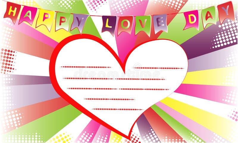 Día feliz del amor Fondo para la plantilla de la tarjeta de la invitación o de la enhorabuena fotos de archivo