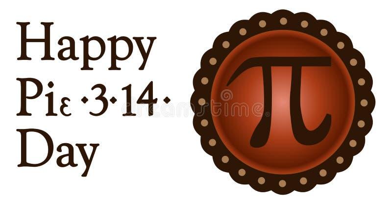 Día feliz del pi, el 14 de marzo libre illustration