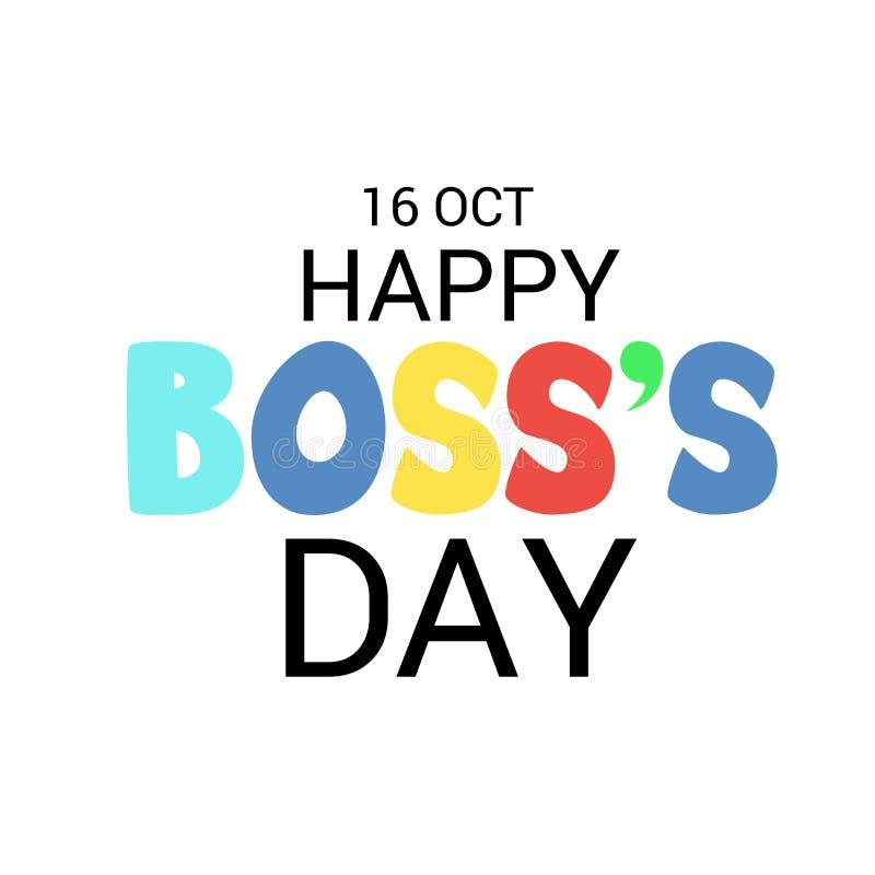 Día feliz del ` s de Boss libre illustration
